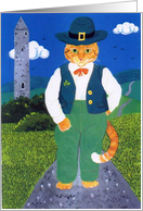Leprechaun Cat card