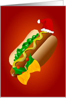 Christmas HotDog Card