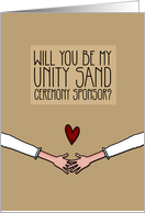 Will you be my Unity Sand Ceremony Sponsor? - from Lesbian Couple card
