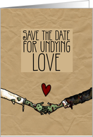 Zombie themed Wedding Save the Date card