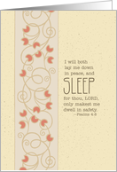 Psalms 4:8 - Scripture Soft Serenity Notes For Hospice Patient card