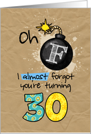 F-bomb birthday - 30 years old card