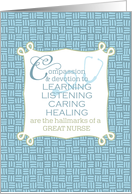 Congratulations Nursing School Graduate - Words to Live By card