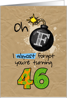 F-bomb birthday - 46 years old card