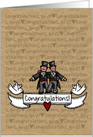 Congratulations - Gay Wedding Couple card