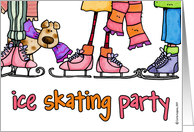 ice skating party invitation card