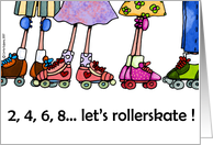 rollerskating party invitation card