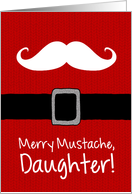 Merry Mustache - Daughter card