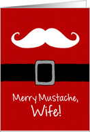 Merry Mustache - Wife card