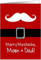 Merry Mustache - Parents card