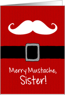 Merry Mustache - Sister card