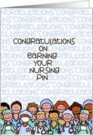 Congratulations - Earning your Nurses Pin card