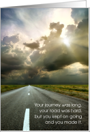 Your Road Was Hard - Anniversary for Cancer Survivor card