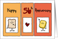 Happy 56th Anniversary - Butter Half card