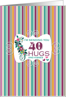 40 Hugs - Happy Birthday card