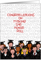 Honor Roll Congratulations to Graduate card