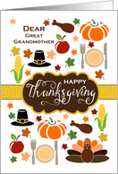Great Grandmother - Thanksgiving Icons card