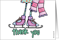 ice skating party - thank you card