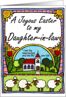 joyous easter to my daughter-in-law card