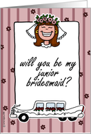 wedding - will you be my junior bridesmaid card