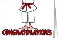 congratulations - earning red belt card