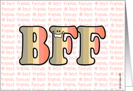 text message - BFF card
