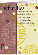 what lies behind us card