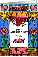 mother's day - to my aunt card
