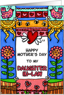 mother's day - to my daughter-in-law card