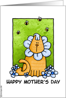 mother's day - kitty card