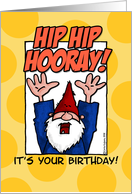 birthday - hip hip hooray card