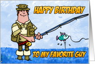 happy birthday - fisherman card