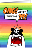 OMG! you're turning 19! card