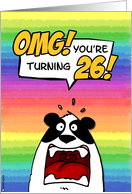 OMG! you're turning 26! card