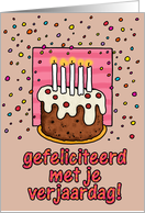 happy birthday card - Dutch card