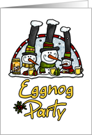 invitation - Eggnog Party card