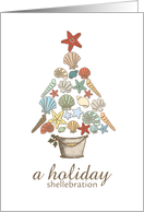 holiday shellebration invitation card