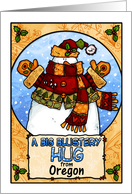 a big blustery hug from Oregon card