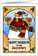 happy holidays to my secretary card