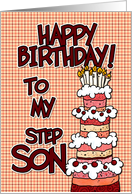 Happy birthday to my step son card