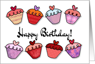 Happy birthday - cupcake card