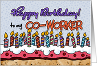 Happy birthday to my co-worker card
