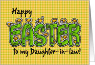 Happy Easter to my daughter-in-law card