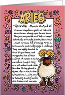 Zodiac Birthday - Aries card