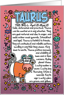 Zodiac Birthday - Taurus card