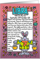 Zodiac Birthday - libra card