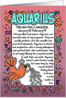 Zodiac Birthday - Aquarius card