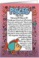Zodiac Birthday - Pisces card