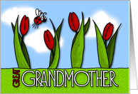 mother's day tulips - for great grandmother card