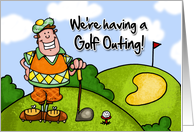We're having a golf outing card